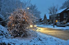 Winter atmosphere in the village Royalty Free Stock Photography