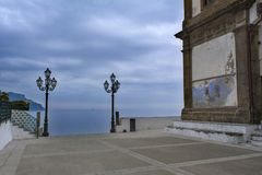 Winter in Atrani royalty free stock images