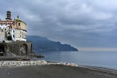 Winter in Atrani royalty free stock photo