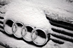 Winter Audi logo Royalty Free Stock Photos