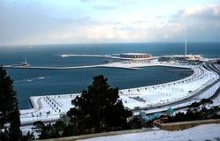 Winter auf Boulevard Baku Stockfoto