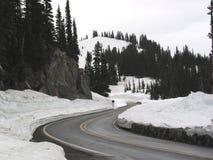 Winter auf Chinook-Durchlauf Lizenzfreies Stockfoto
