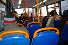 Winter auf dem Bus Stockfotografie