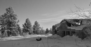 Winter auf dem Durchlauf Stockfotografie