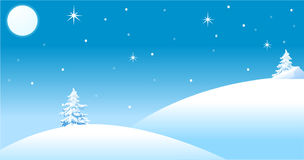 Winter auf dem Hügel Lizenzfreie Stockbilder