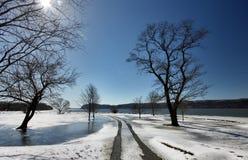 Winter auf dem Hudson lizenzfreie stockfotografie