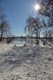 Winter auf dem Strand Lizenzfreie Stockfotografie