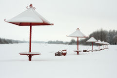 Winter auf dem Strand Lizenzfreies Stockbild