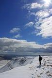 Winter auf den Brecon Leuchtfeuern Stockfoto