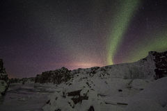 Winter Aurora High Quality Royalty Free Stock Photography