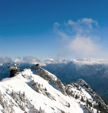 Winter Austrian Alps meteo station Stock Image