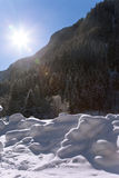 Winter Austrian landscape. Bad Gastein Royalty Free Stock Image