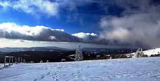 Winter austrian mountains panorama Stock Images