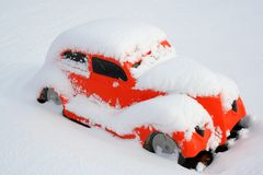 Winter-Auto Stockbilder