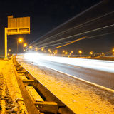 Winter-Autobahn Stockfotografie