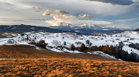 Winter - autumn mountain landscape in Slovakia Stock Photo