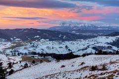 Winter - autumn mountain landscape in Slovakia Stock Photography