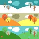 Winter, autumn, summer nature Royalty Free Stock Image