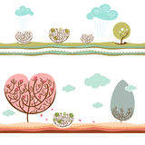 Winter and autumn vector Royalty Free Stock Image