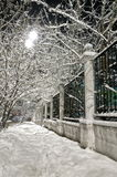 Winter avenue. The Russian Federation. Western Siberia. City Novokuznetsk Royalty Free Stock Photos