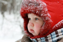 Winter baby royalty free stock photography