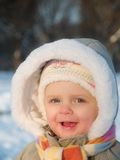 Winter baby royalty free stock images