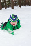 Winter baby. Joy in snow Royalty Free Stock Photo