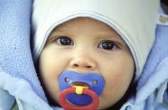 Winter baby stock photos