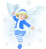 Winter baby fairy Royalty Free Stock Photography