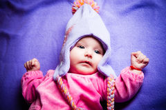 Winter baby girl Royalty Free Stock Images