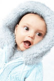 Winter baby girl Royalty Free Stock Photo