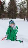 Winter baby joy royalty free stock photos