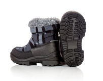 Winter baby shoe Royalty Free Stock Images