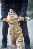 Winter baby walking Royalty Free Stock Photo