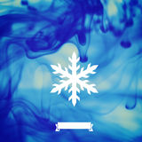 Winter backdround. Ink in water Vector Illustration