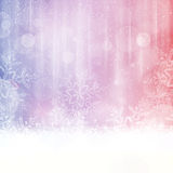 Winter backgound with snowflakes Stock Image