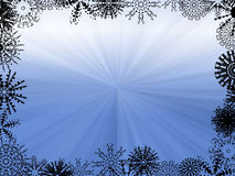 Winter Background. Abstract of Blue Light Rays - winter background Stock Photography
