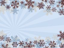 Winter Background. With SnowFlakes (Quick & Easy Editing Royalty Free Stock Images