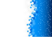 Winter background. Blue christmas background with snowflakes Royalty Free Stock Photo