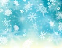 Winter background. Background illustration of softly falling snowflakes Stock Photo