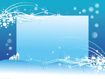 Winter Background. Vector  illustration with the place for text with a winter composition Royalty Free Stock Images