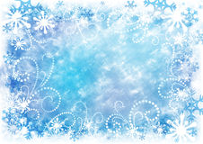 Winter background. Abstract decorative Christmas background with snowflakes Stock Photos