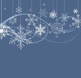 Winter background. Snowflakes background with space for text Stock Image