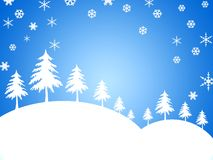 WINTER BACKGROUND. Winter themed background - cold tones royalty free illustration