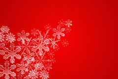WINTER BACKGROUND. Winter themed background with ice crystals Stock Illustration