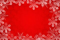 WINTER BACKGROUND. Winter themed background with ice crystals Vector Illustration