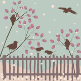Winter background. Winter greeting card nature background stock illustration