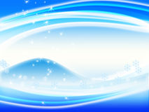 Winter background. Blue winter background with snow and snowflake Stock Photography