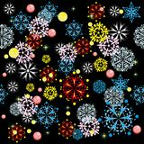 Winter background. With snowflakes. illustration Royalty Free Stock Images