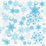Winter background. With snowflakes. illustration Stock Images